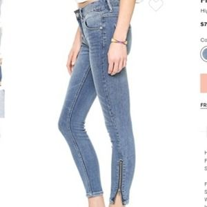 Free People High Rise Ankle Zip Moto Jeans 26